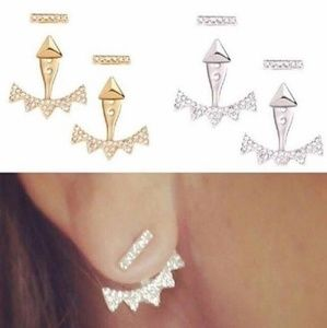 New Stella & Dot's Pave Triangle Earrings